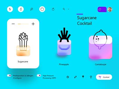 Sugarcane Cokctail 3d 3d ui illustration branding ux clean ui amptus strap design
