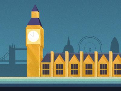 London landmark building illustration london