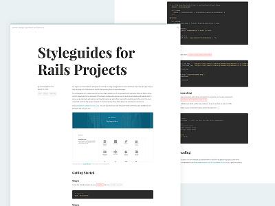 Blog Entry: Styleguides for Rails Apps practices workflow design til cheatsheet web development rails journal blog