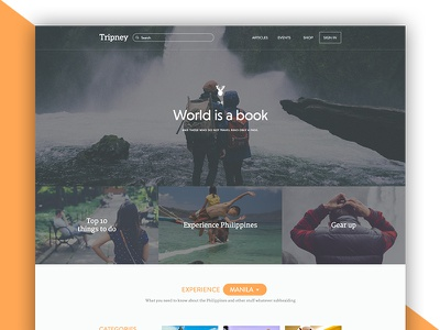 Tripney Landing Page philippines travel ux ui website