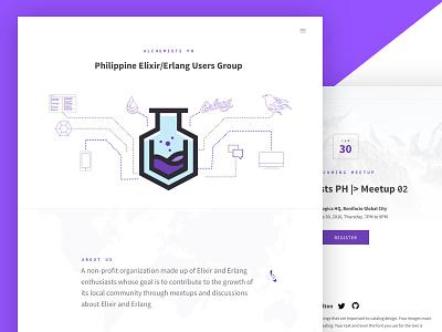 Alchemists PH: Philippine Elixir/Erlang User Group Website animation animated svg phoenix community philippines software engineering language erlang elixir