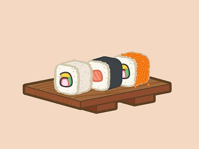 Maki sushi roll california maki salmon illustrator illustration food japanese sushi maki