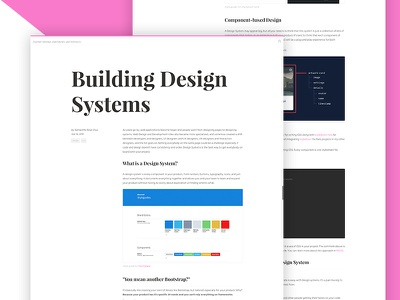 Blog Post: Building Design Systems post styleguides design system design blog