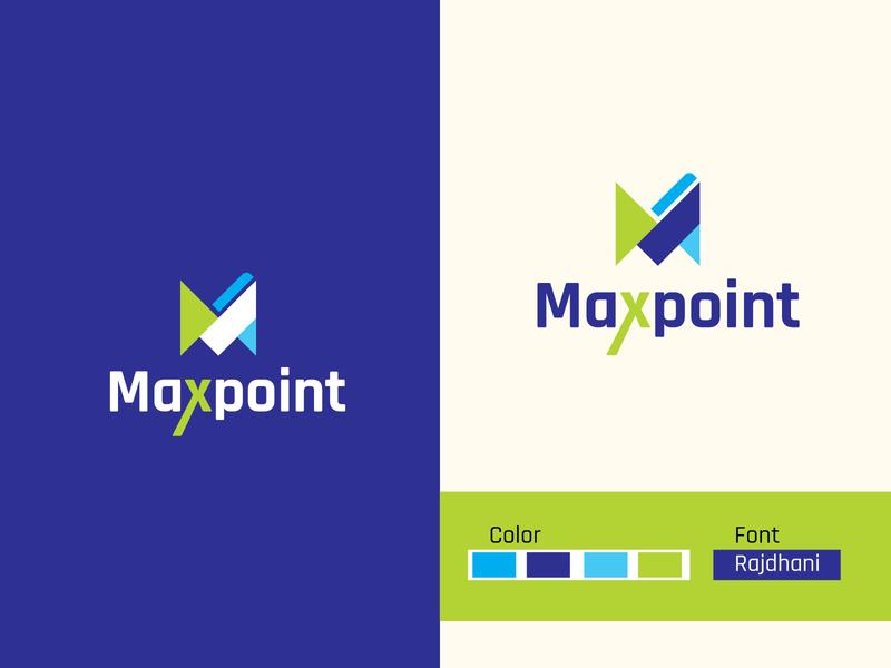 maxpoint logo design