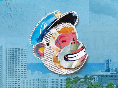 MailChimp Billboard collage elmers glue magazines