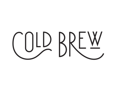 Cold Brew brew lettering typography coffee