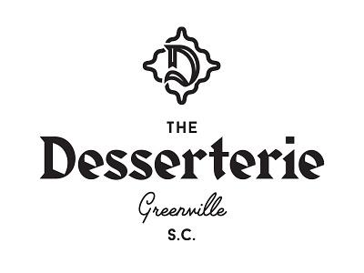 Desserterie crest badge icon type typography bakery logo