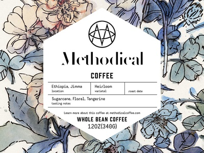 Methodical Coffee identity branding packaging package label coffee