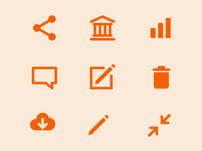 Etsicons download trash edit bank share design systems icons
