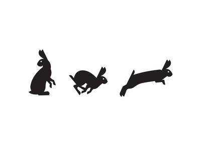 Rabbits illustration rabbits branding icon logo
