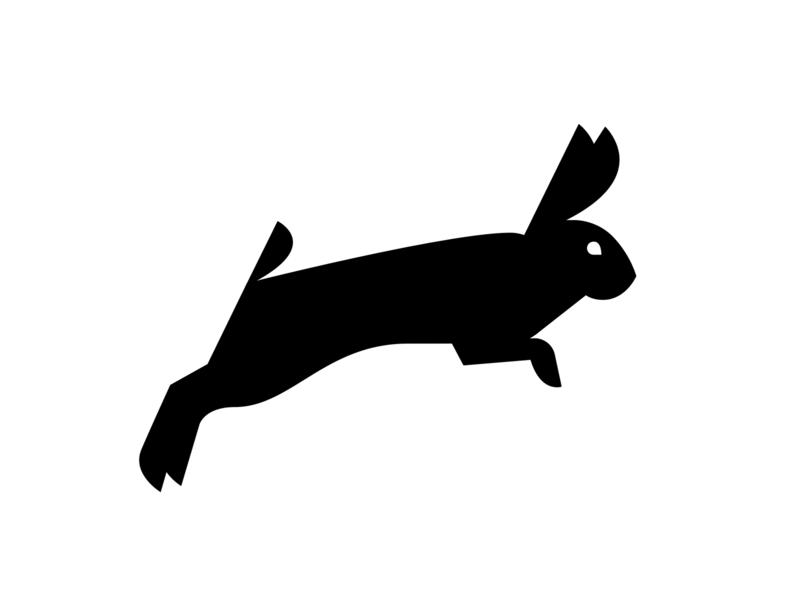 Rabbit illustration rabbit logo icon branding
