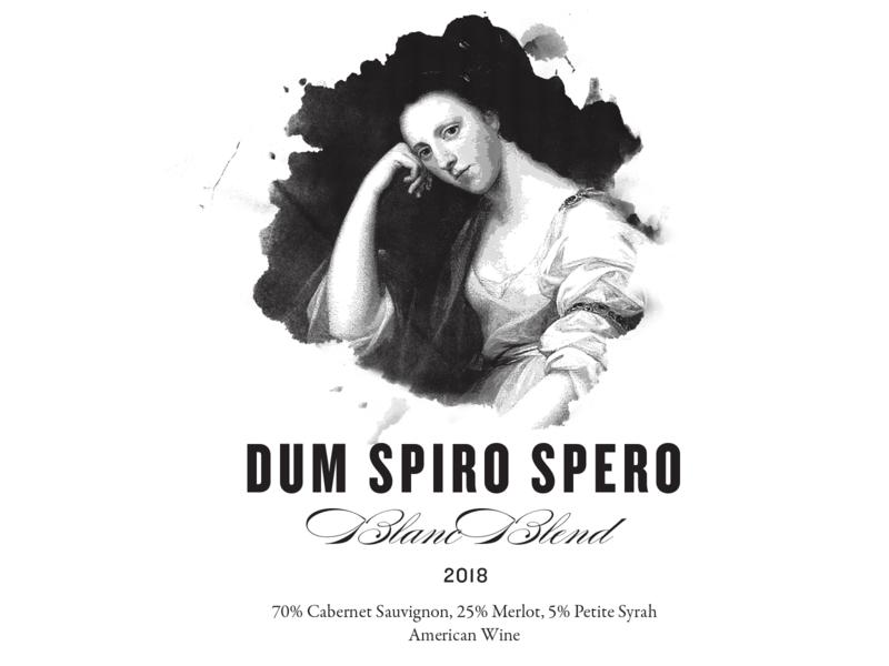 Dum Spiro Spero illustration artwork branding packaging wine label