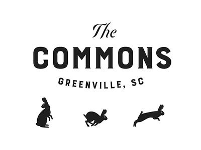 The Commons icon industrial logotype bunnies rabbits logo branding