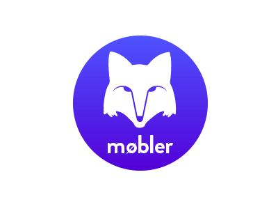 Mobler logo identity mark blue fox