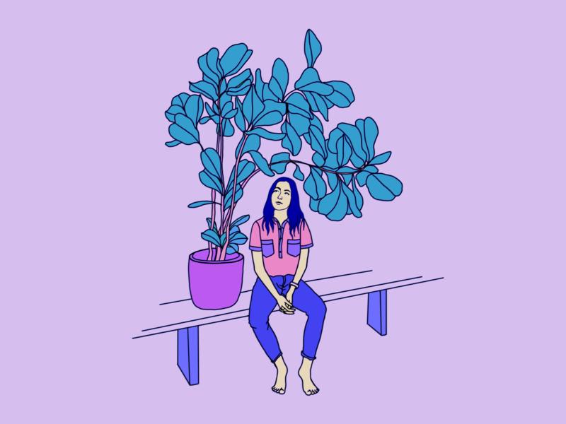 Making friends plant illustration plantsarefriends friends girl plants photoshop illustration digitalart artwork art
