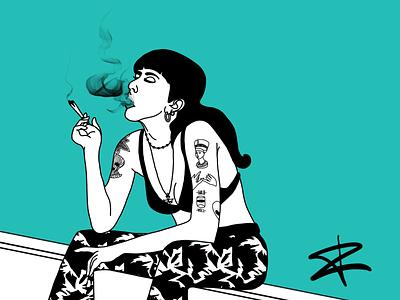 Leftgurl tattoo trashy girl graffiti photoshop illustration digitalart artwork art