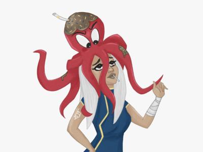 Octopus illustration art characterdesign