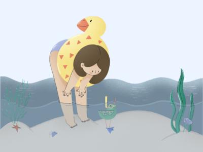 Happy summer edited* illustration summer flat
