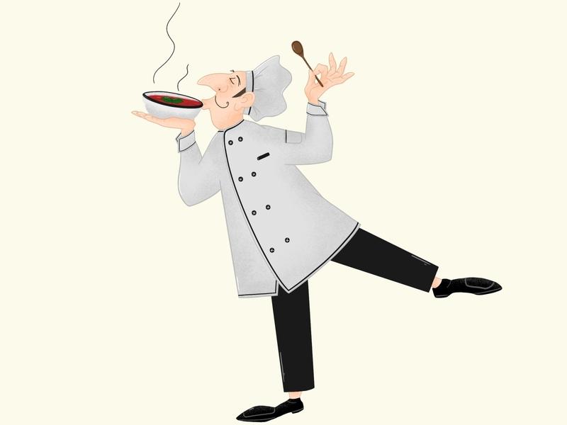 Chef illustration 2 soup chef art characterart procreate art 2d character digital painting digital2d characterdesign illustration
