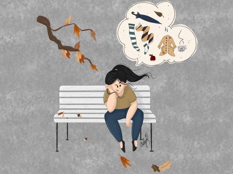 First of September ipadproart autumn characterart procreate art digital painting characterdesign illustration