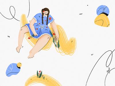 Little princess digitalart geometic graphic design contemporary abstract art minimal instagram flowers shapes inspiration dribbblers character design girl procreate art flatdesign flat illustration characterdesign 2d illustration