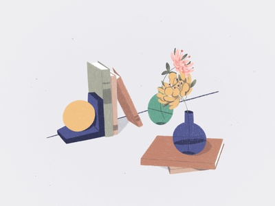 Still life graphic illustration digital painting flowers colors modern art graphic style graphic illustration shapes design art digital art inspiration clean minimalistic art contemporary abstract still life flatdesign flat illustration digital2d illustration