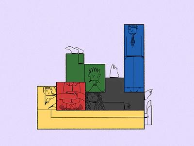 Tetris characters digital illustration inspiration dribbblers design art graphic clean minimal blog illustration web illustration character tetris flatdesign flat illustration digital2d characterdesign illustration