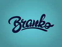Branko - lettering