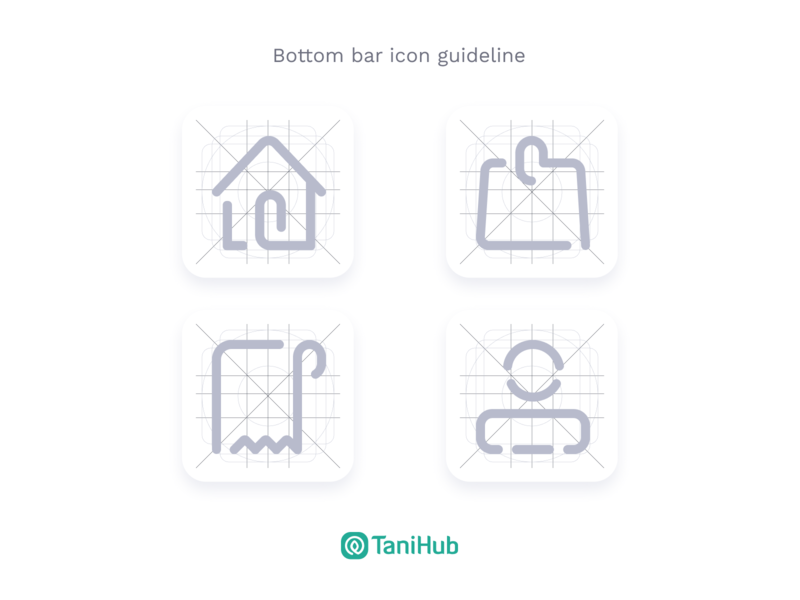 TaniHub Bottom Bar Icon Guideline