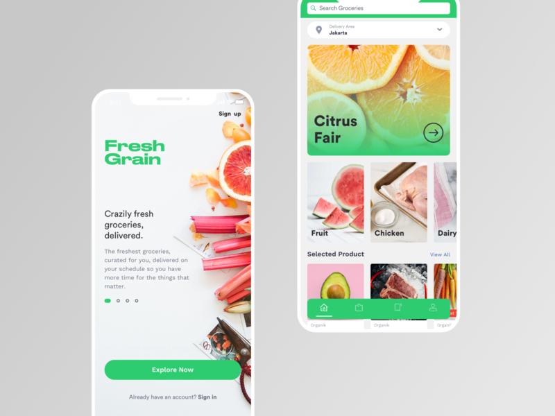 FreshGrain Groceries App
