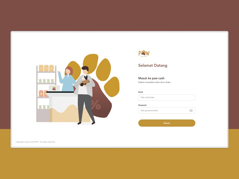 Sign-in page on POS website