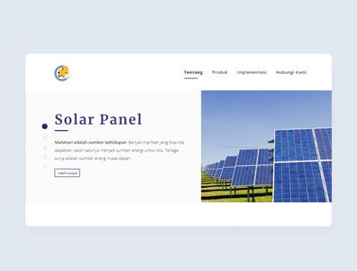 Solar Panel design web ui