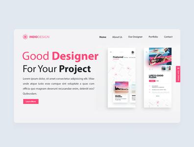 Indo Design flat illustration web design