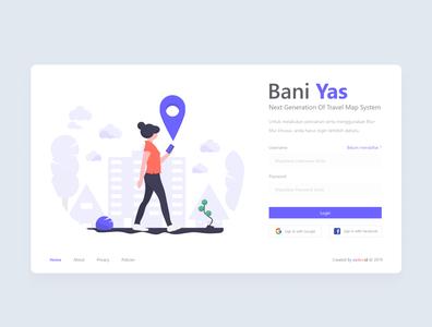 Bani Yas illustration web ui design