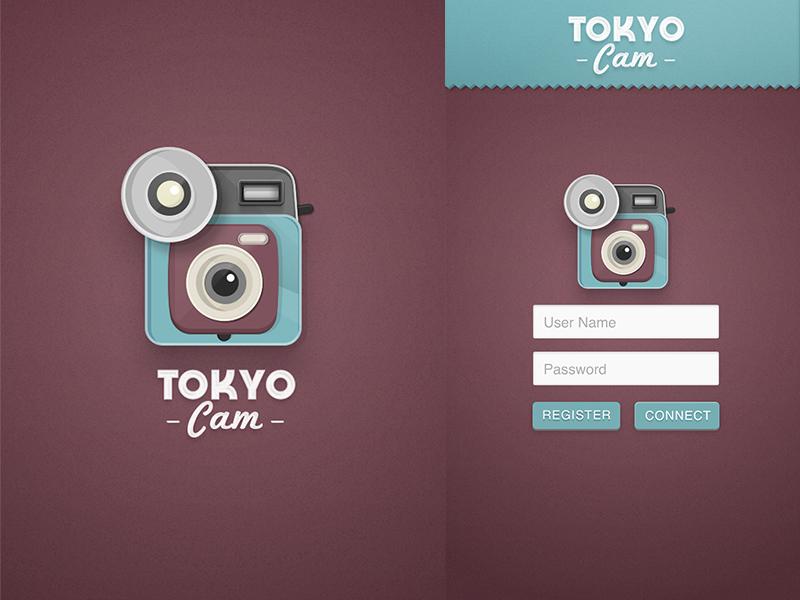 TokyoCam Concept Design app ui ux application camera logo icon