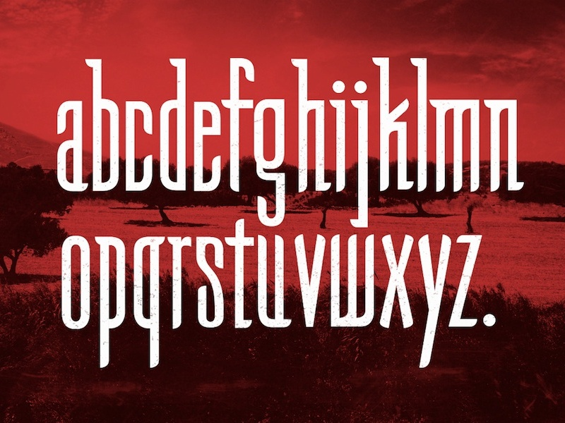 Homilia Font type typeface font goth gothic caligraphy greek