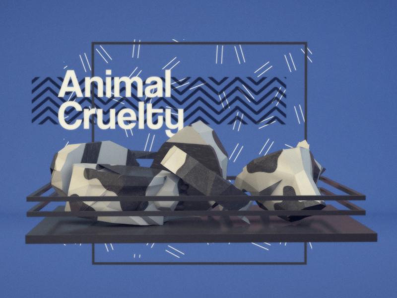 Vegamism Motion animal vegan motion cruelty c4d low poly