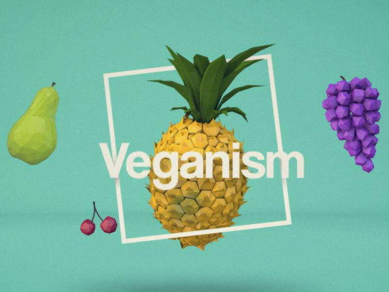 Veganism Motion c4d low poly water pollution environmental veganism vegan food 3d