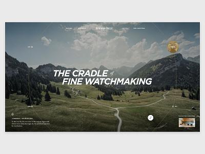 Audemars Piquet — History watches luxury interface web layout digital ux ui website design