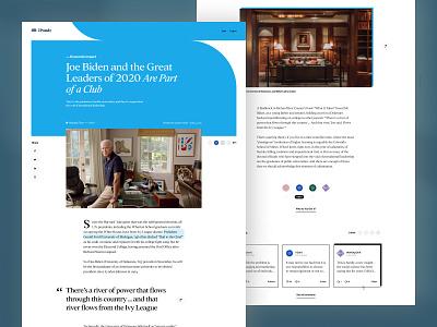 iPondr — Article Page typography platform news photography article page shapes article interface layout ux ui website design