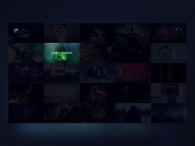 Echoic Audio - Project overview grid design sound minimal video website ui audio clean