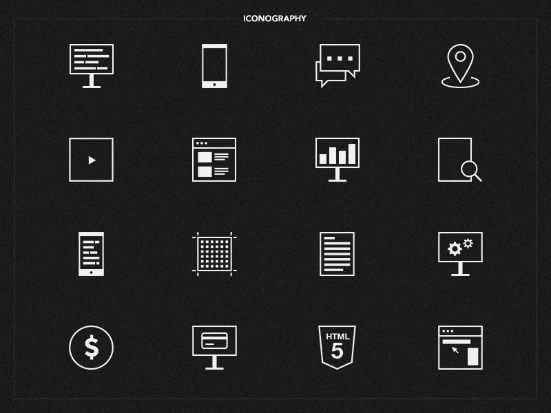 Involve Digital - Iconography iconography digital illustration clean minimal design icons