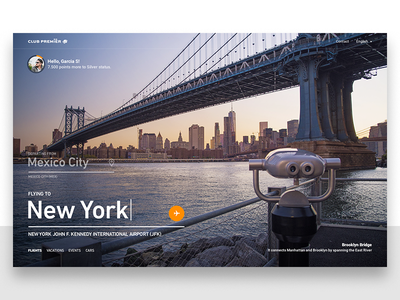 Aeromexico's Club Premier - Frequent Flyer Program website design clean minimal travel ui ux flying photography newyork
