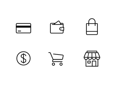 eCommerce Icons iconset webshop clean website shopping ecommerce lines minimal icons