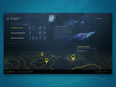 Go Army - Cryptaris 2.0 army webgl map ux ui tech minimal clean design website