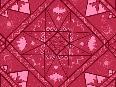 Mauna Kea geometric pattern stars moon sun pattern design pattern nature mountains illustration design illustration art geometric illustration geometric design geometric art design procreate illustration drawing digital painting digital illustration digital art