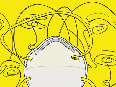 Pandemia issues corona coronavirus covid19 mask adobe adobe illustration illustrator pandemia pandemic yellow illustration