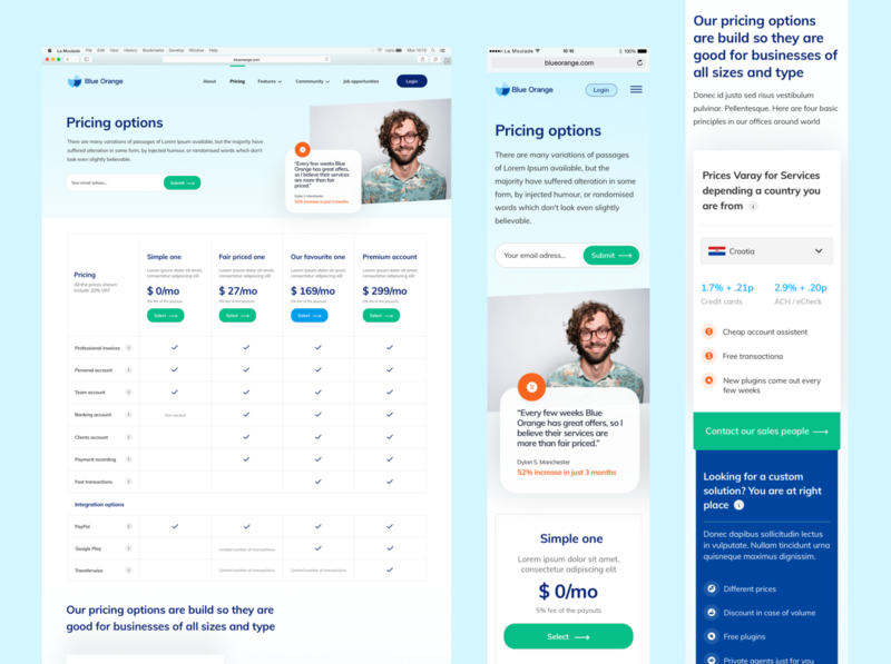 Pricing options web proposal price tag price list webdesigner blue sketch figma website webdesign web ui ux banking app bank app banking prices pricing plans pricing table pricing plan pricing page pricing