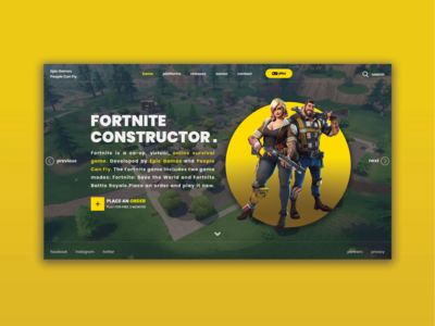 Fortnite Home Page Insta Layers