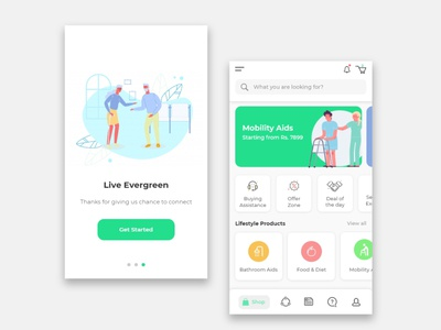 Ecommerce mobile app design